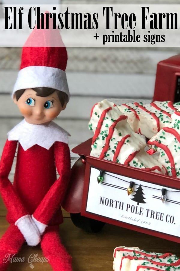 Elf Christmas Tree Farm Printable Signs Mama Cheaps