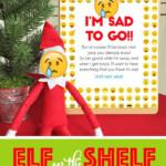 Elf On The Shelf Emoji Departure Letter Printable Mask