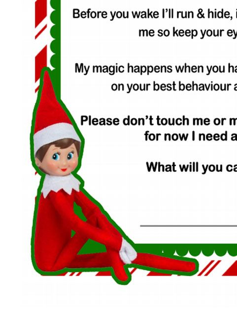 Elf On The Shelf Letter Elf On The Shelf Elf On The