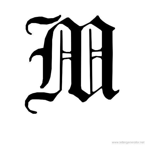 English Gothic Font Alphabet M Dise o De Branding