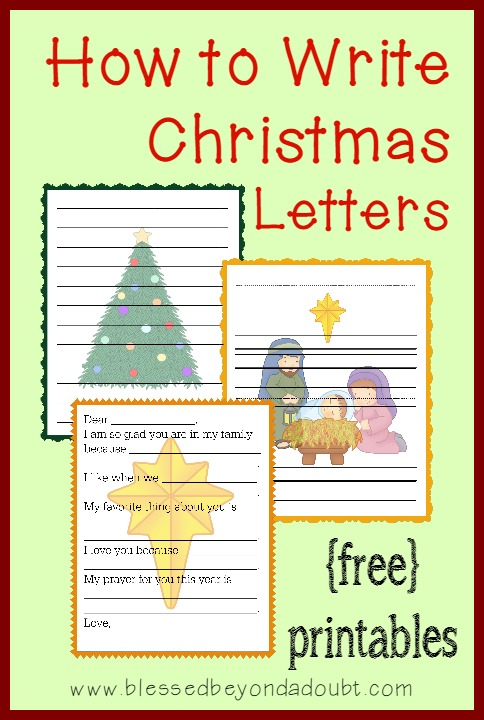FREE How To Write Christmas Letters Printables Free