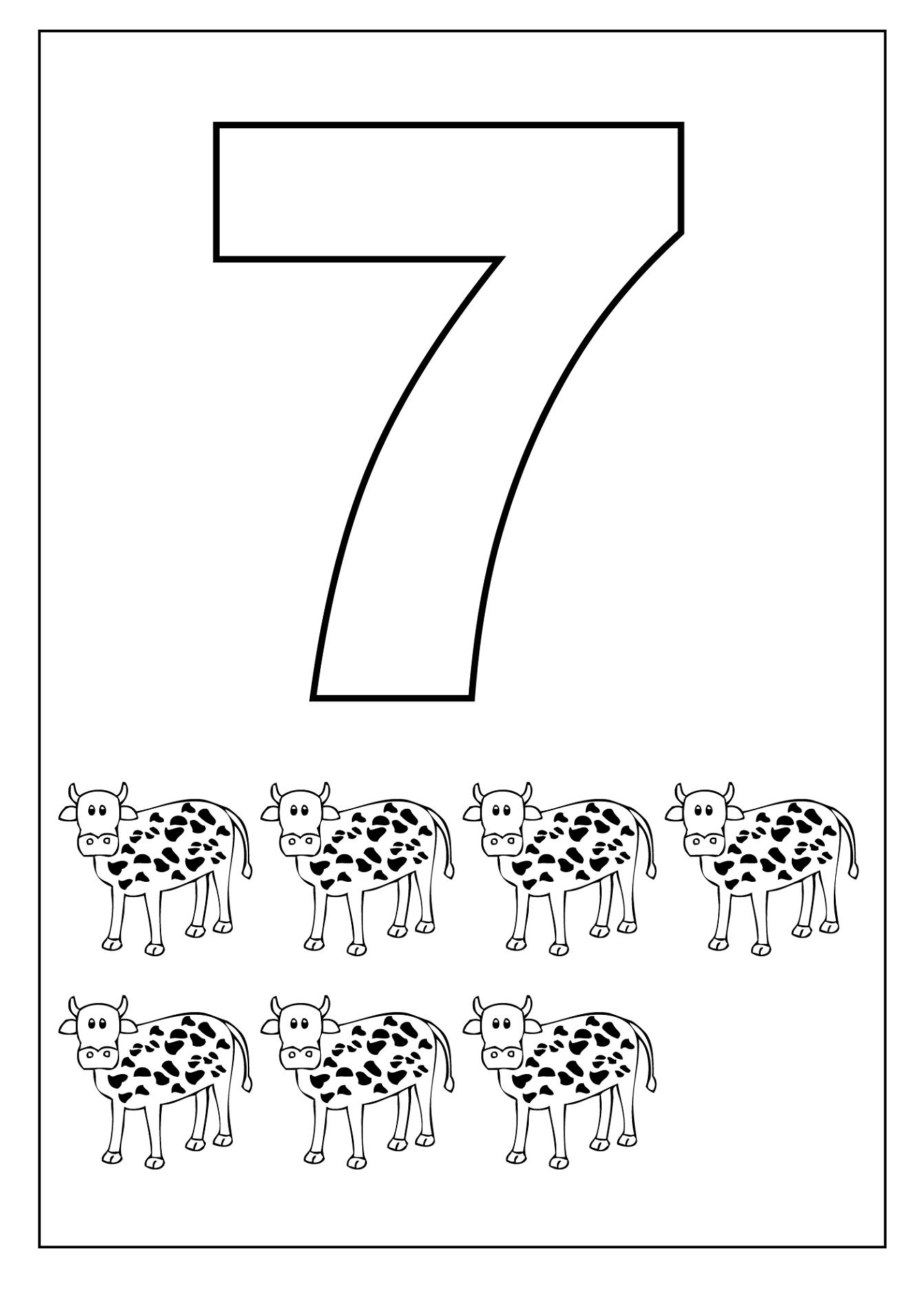 Free Number 7 Worksheets Activity Shelter