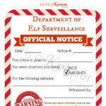 Free Printable Elf On A Shelf Naughty Nice Notices In