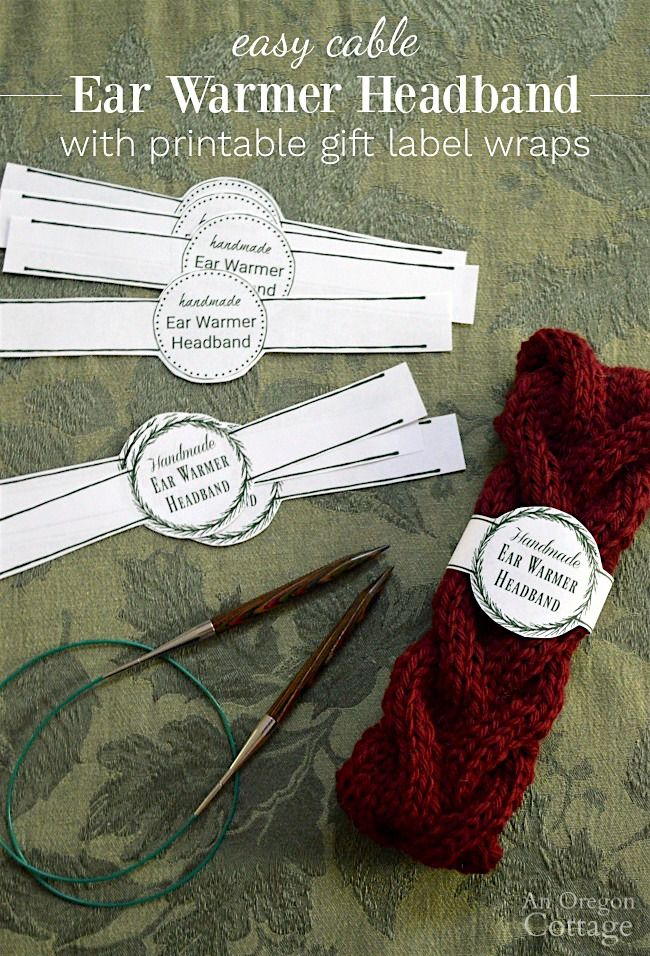Free Printable Gift Labels For Easy Knitted Cable