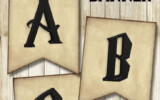 Free Printable Harry Potter Banner Letters Harry Potter