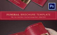 Funeral Program Template 23 Free Word PDF PSD Format