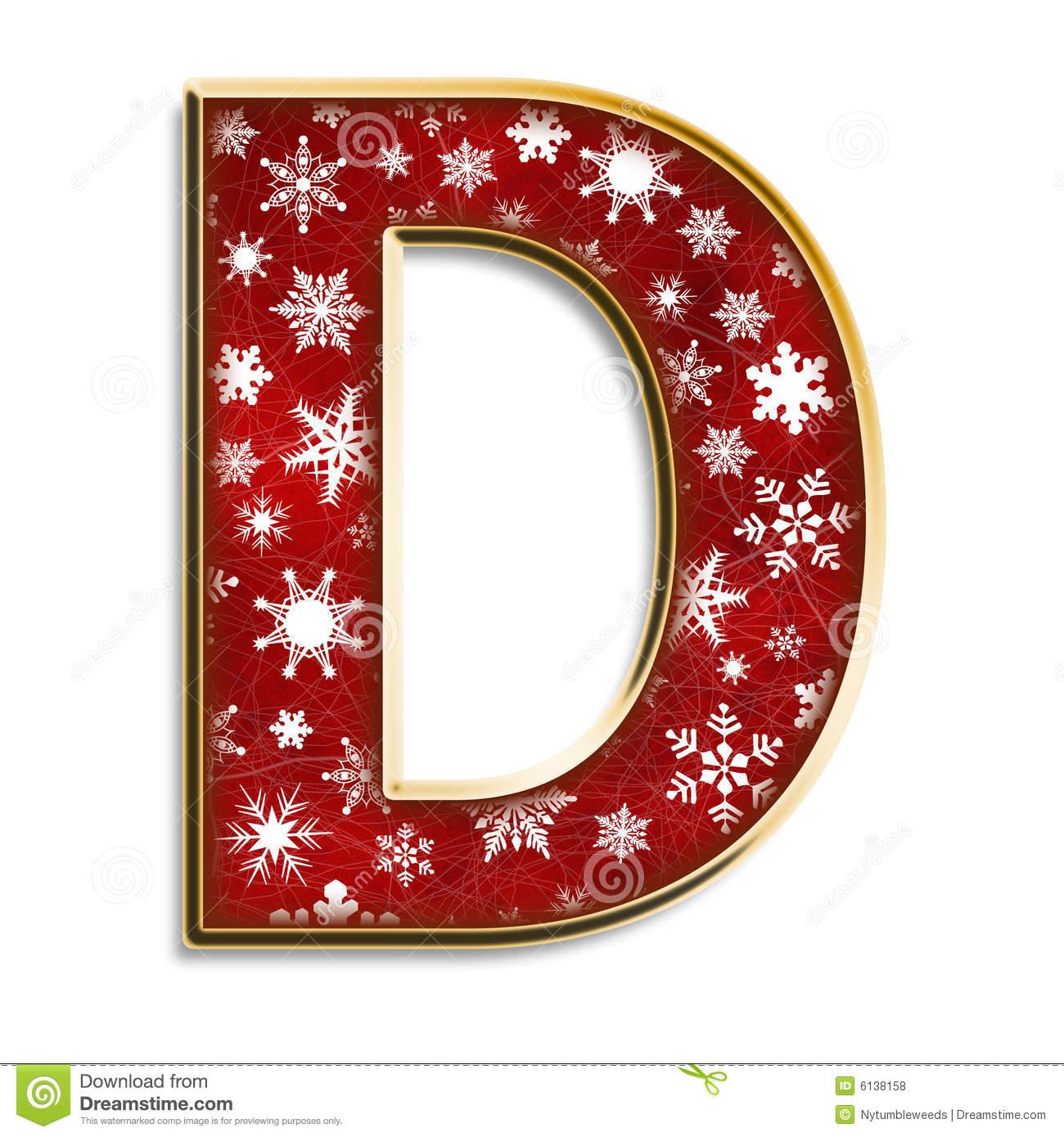 Letra D Do Natal No Vermelho Ilustra o Stock Ilustra o