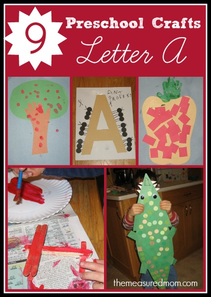 Letter A Crafts For Preschoolers The Measured Mom