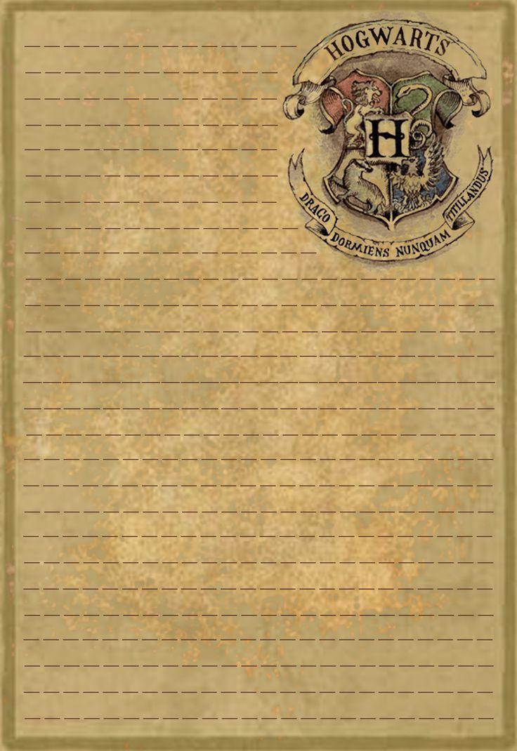 Letter Paper Design Harry Potter