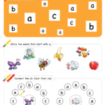 Letter Recognition Phonics Worksheet A lowercase