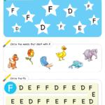 Letter Recognition Phonics Worksheet F Uppercase