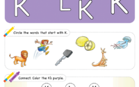 Letter Recognition Phonics Worksheet K Uppercase
