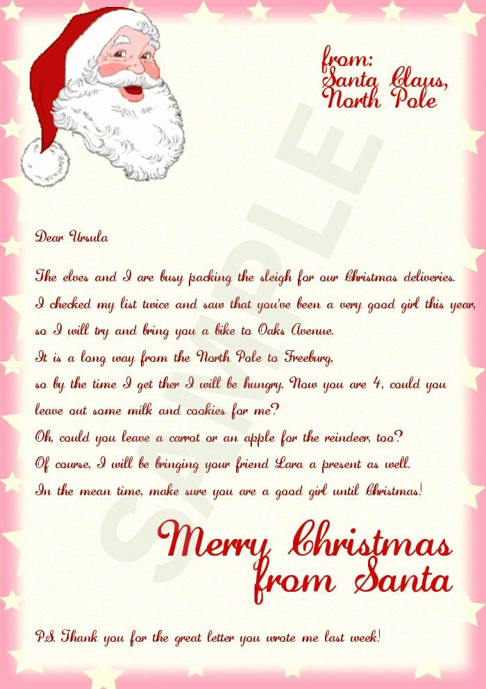 Letters From Santa Template Unique Letter From Santa