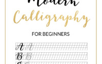 Modern Calligraphy Practice Sheet Downloadable