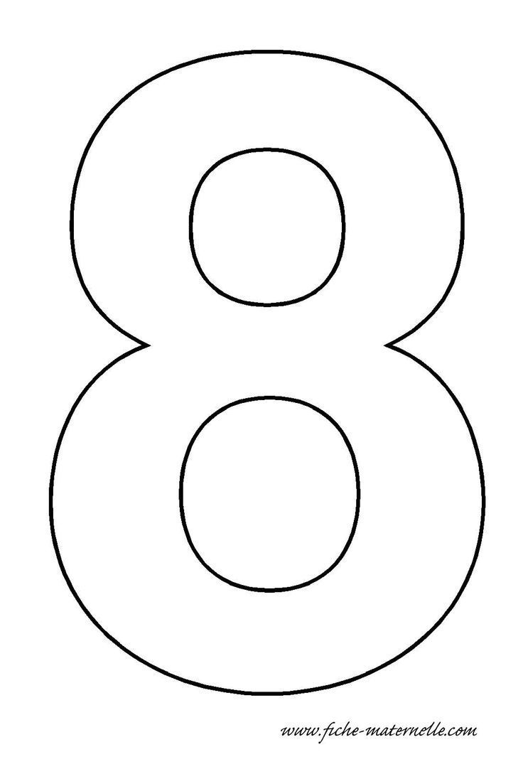 Number 8 Template Crafts And Worksheets For Preschool
