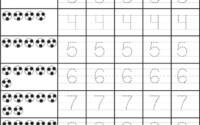 Number Tracing Worksheets Pdf Id 5 Worksheet Tracing