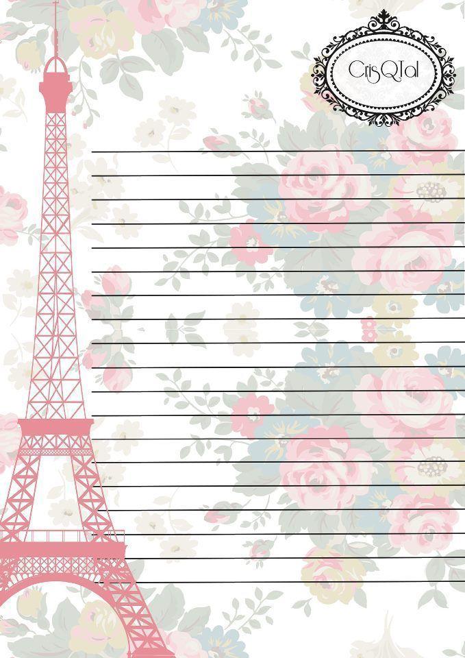 Paris Themed Romantic Letter Paper Stationery Paper