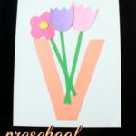 Preschool Alphabet Book Uppercase Letter V From ABCs To