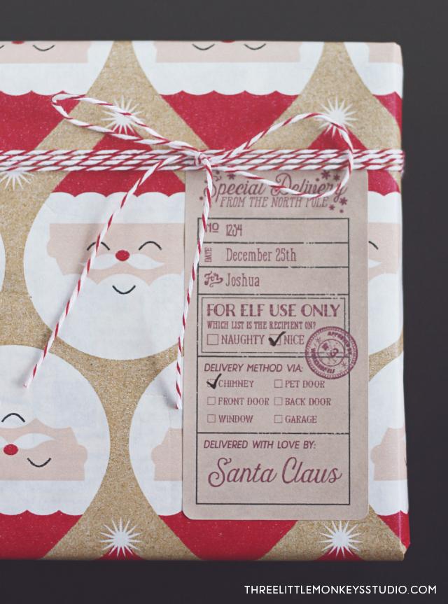 Santa s Special Delivery Gift Label Tags Worldlabel Blog
