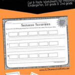 Sentence Scrambles Worksheets Kindergarten Writing