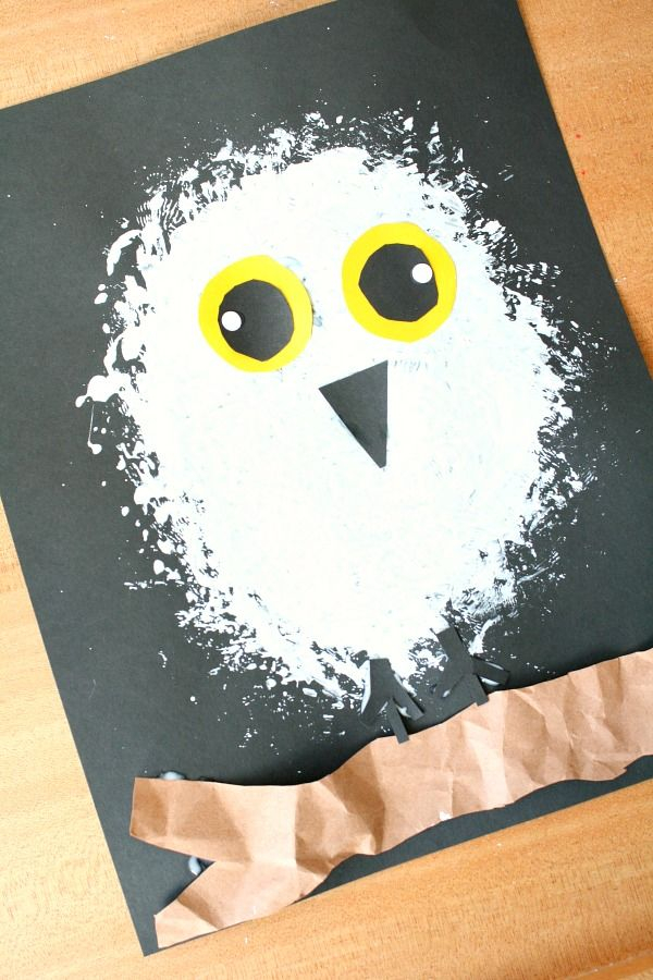 Snowy Owl Winter Craft For Kids Winter Crafts For