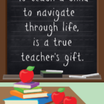Teacher Gift Thank You Card For Teacher Free
