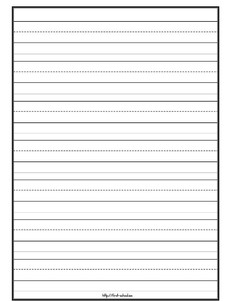 Templates Kindergarten Writing Paper Primary Writing