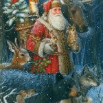 Woodland Santa Christmas Card By LPG Greetings