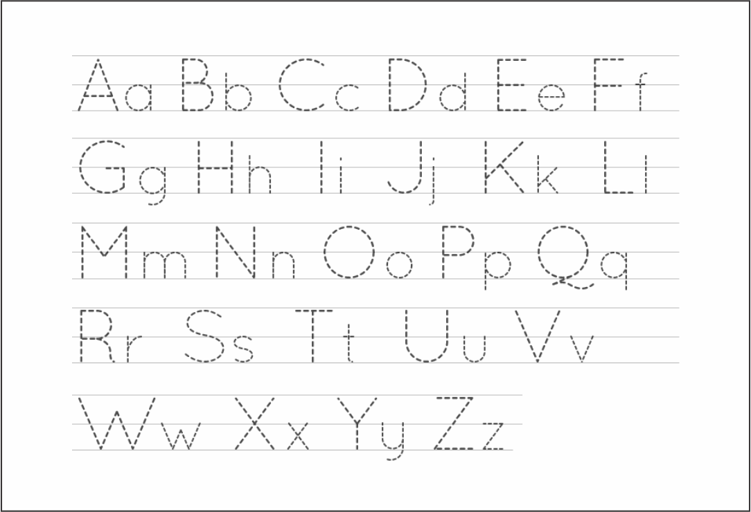 10 Best Free Printable Alphabet Tracing Letters