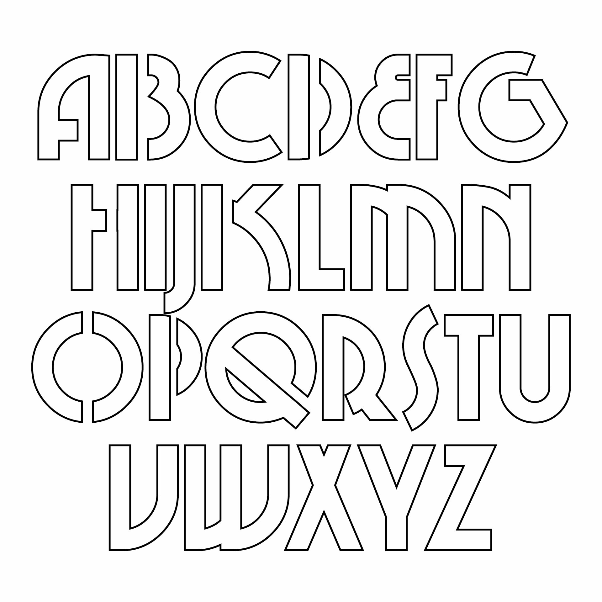 10 Best Free Printable Cut Out Letters Printablee