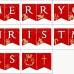 10 Festive Merry Christmas Banner Printables