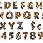 10 Safari Animal Font Images Zoo Animal Alphabet Letters