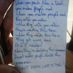 12 Amusing Notes Left For Inconsiderate Parkers Part 1