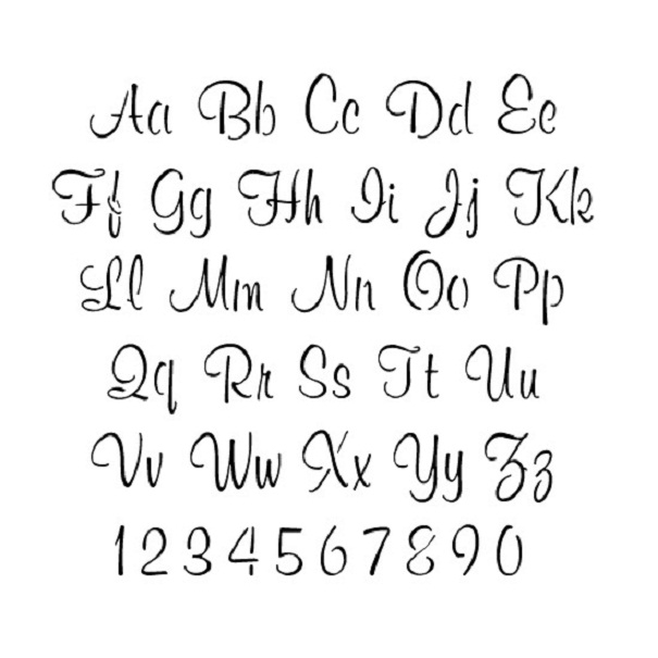 12 Font Alphabet Letter Templates Images Free Printable