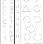 123 Tracing Worksheets Preschool Shape Tracing