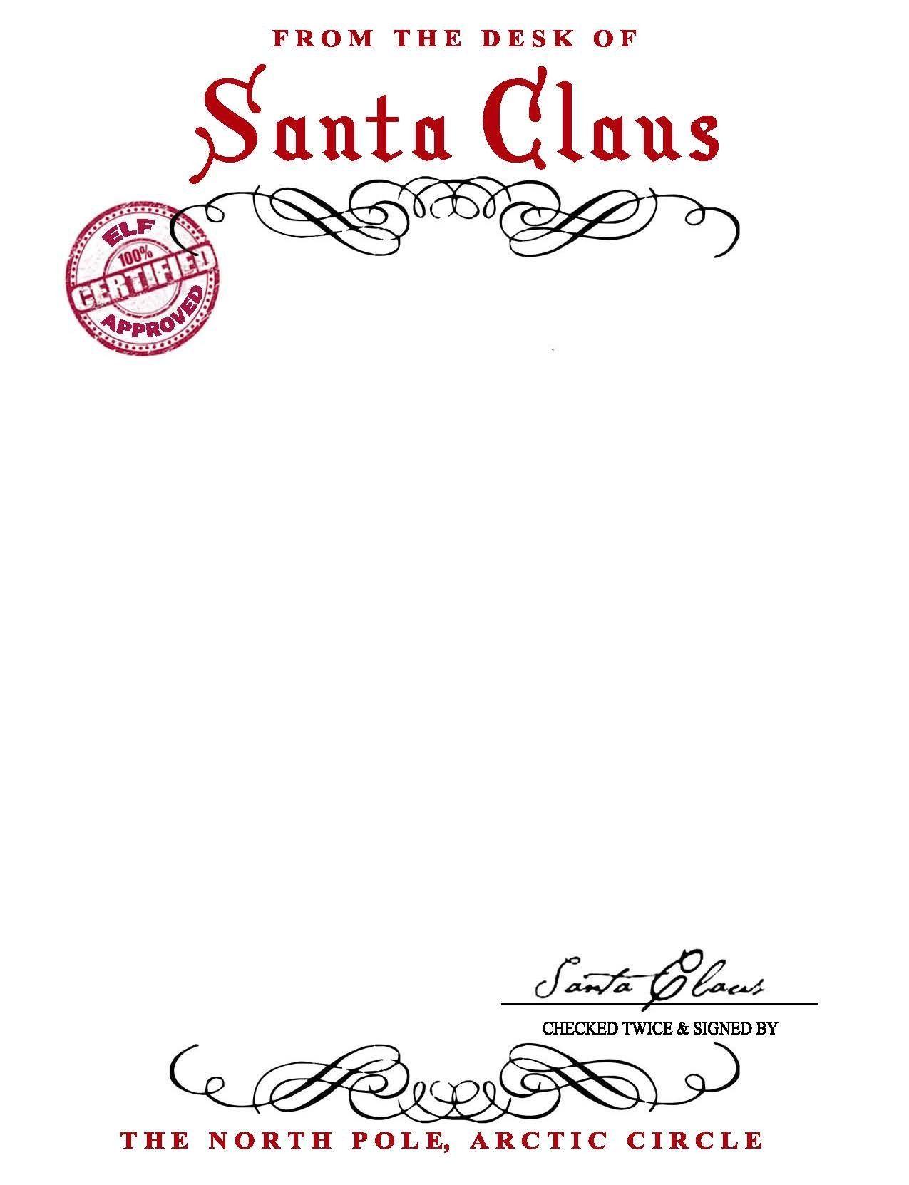 13 Best Images Of Free Printable Santa Letter Stationary