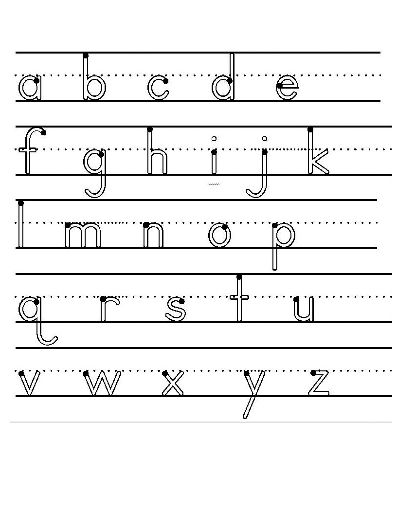 14 Best Images Of Lowercase A Worksheet Handwriting