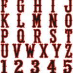 15 Color In Letter Font Images Font Outline Letters To