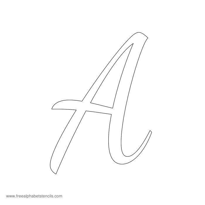 1950s Casual Cursive Alphabet Stencils