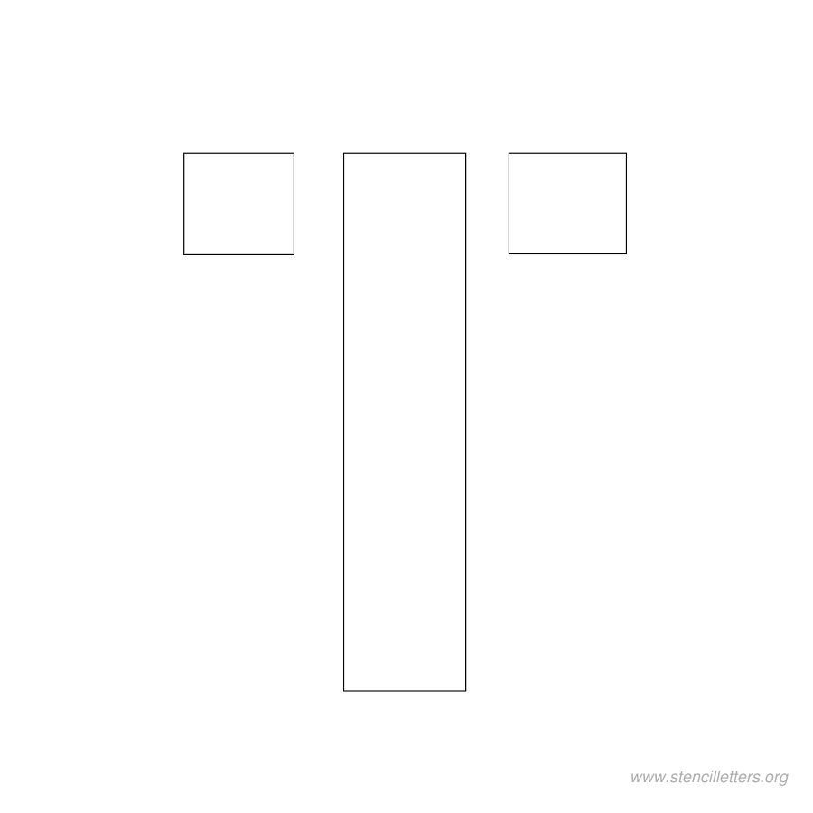 2 Inch Stencil Letter T Letter Stencils Lettering Stencils