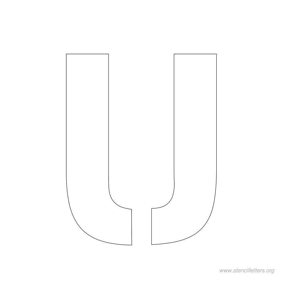 2 Inch Stencil Letter U Letter Stencils Stencils