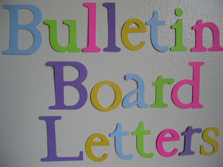 20 30 Die Cut Letters Bulletin Board Letters