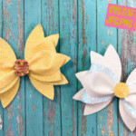 3D Daisy Hair Bow Template SVG PNG DXF PDF JPEG EPS