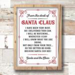 5x7 Santa Cam Letter Printable Note For Santa Cam