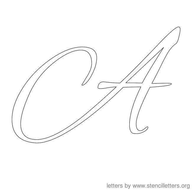 6 Best Cursive Letters Printable Stencils To Trace