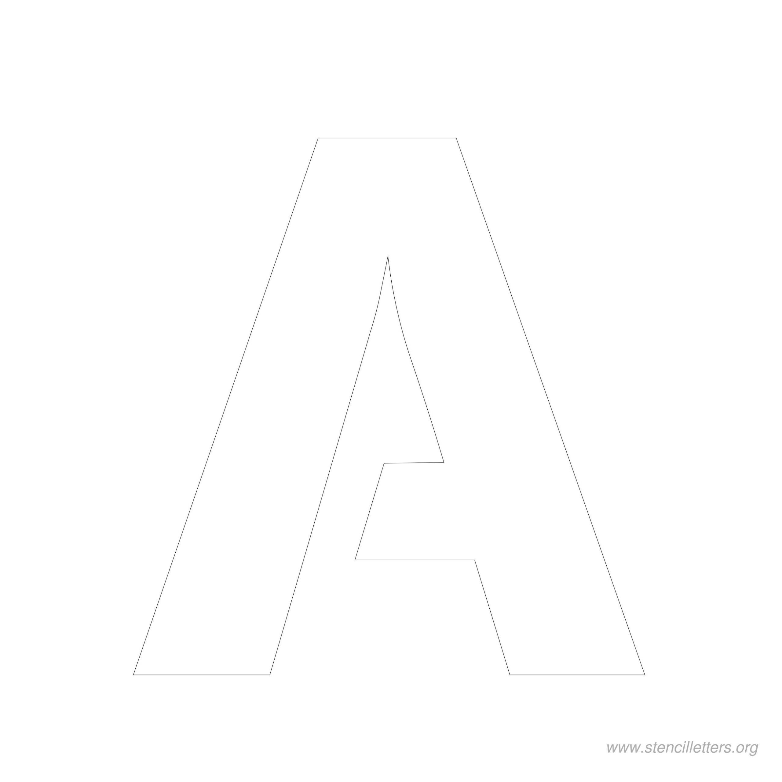 6 Inch Stencil Letter A Letter Stencils Alphabet