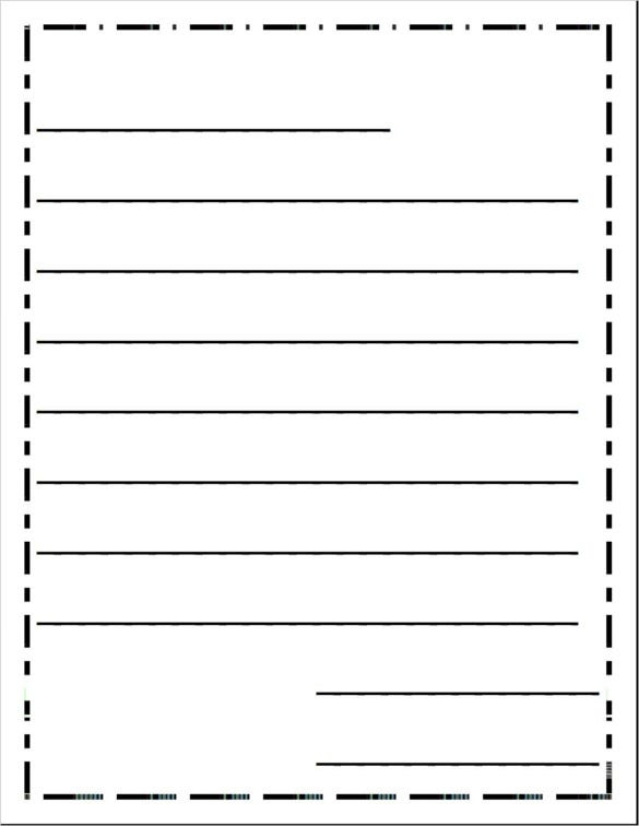 6 Writing Templates Word PDF Free Premium Templates