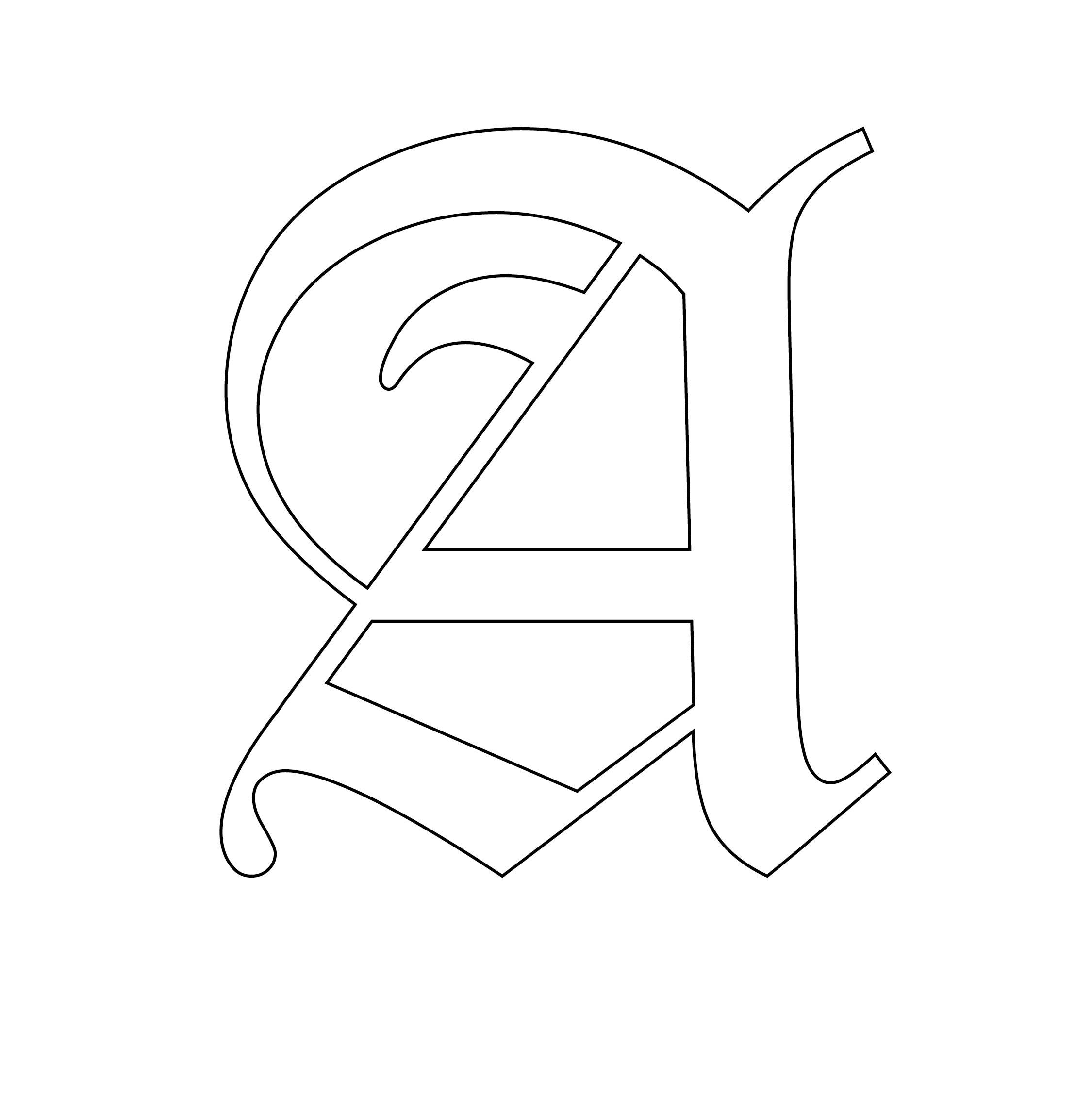 7 Best 4 Inch Alphabet Stencils Printable Printablee