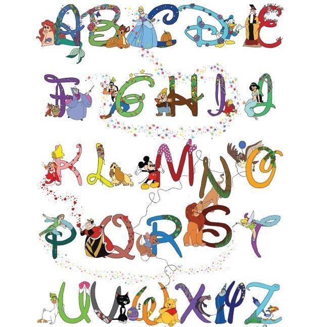 7 Best Alphabet Disney Font Printables Printablee