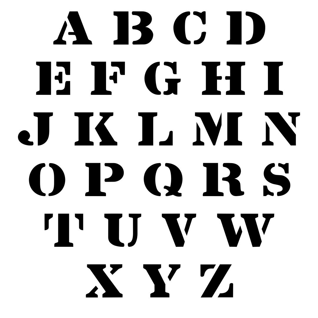 7 Best Fancy Letter Stencils Free Printable Printablee